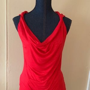 Inc Sexy Sleeveless Red Top small